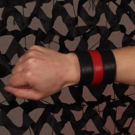 Cockpik Bracelet de Force Cuir Noir/Rouge