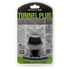 Perfect Fit Ass Tunnel Plug Silicone Noir Medium