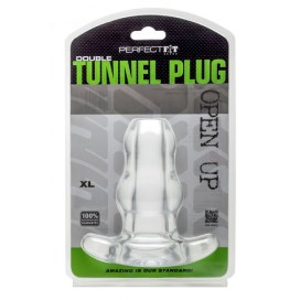 Perfect Fit Double Tunnel Plug Transparent Extra-Large
