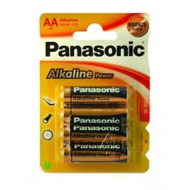 Piles AA Panasonic Alcaline x4