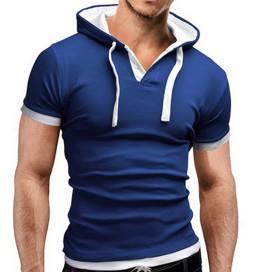 T-Shirt Capuche Bleu