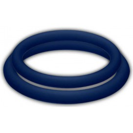 Joy division Lot de 2 cockrings Silicone Potenz Duo Bleu