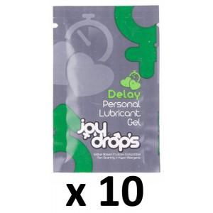 Joy Drops Dosettes Lubrifiant Retardant 5mL x10