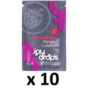 Joy Drops Dosettes Lubrifiant Arôme Fraise 5mL x10