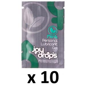 Joy Drops Dosettes Lubrifiant Arôme Menthe 5mL x10