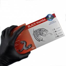 Unigloves Gants Noirs Latex Black Mamba x100