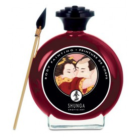 Shunga Peinture Corporelle Fraise - 100 ml